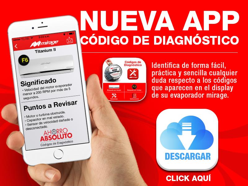Códigos de Diagnóstico para Aires Acondicionados Mirage.